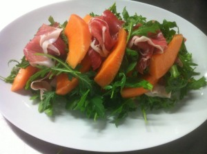 Melon and serano ham salad - simple starter idea