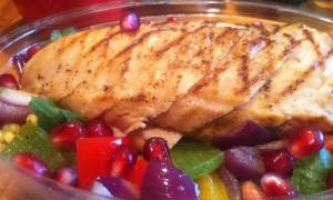 working lunch - chicken salad