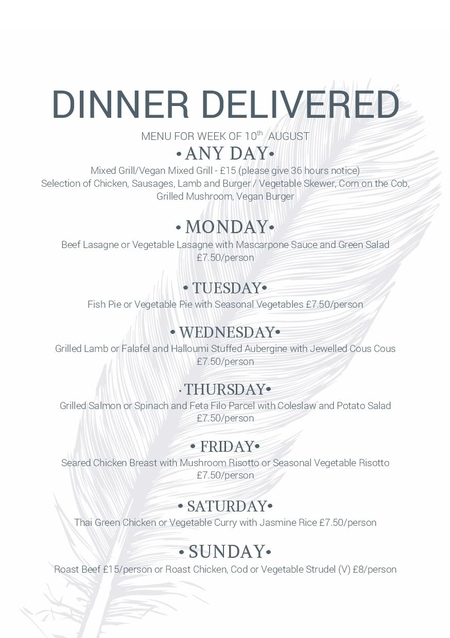delivery menu August 10th